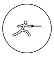 fencer stick icon black color simple image vector image