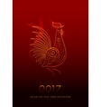 Fire Rooster Chinese New Year Symbol vector image vector image