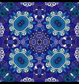 floral blue decorative doolde background vector image vector image