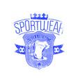 football sportswear vector image vector image