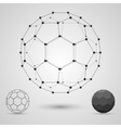 Framework of volume geometric shapes with edges vector image