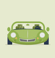 green car vector image