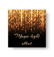greeting card with golden light vector image vector image