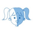 happy face girl character people young vector image