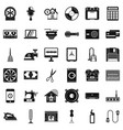 homework appliance icons set simple style vector image vector image