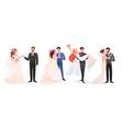 marriage wedding couple vector image