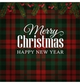 merry christmas greeting card invitation vector image vector image