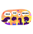 modern flat character friends women say hello vector image