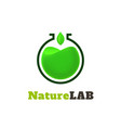 nature lab logo template vector image