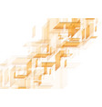 orange abstract hi-tech shapes pattern vector image vector image