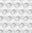 Perforated striped swirling waves vector image vector image