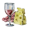 picture of wine vector image
