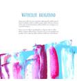 pink purple magenta blue watercolor texture vector image