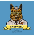 Portrait of German Shepherd Hand-drawn vector image vector image