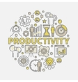 Productivity round colorful vector image vector image
