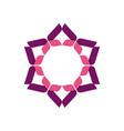 purple flower star logo template vector image