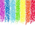 Rainbow dot background vector image vector image