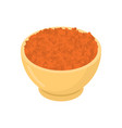 red lentils in wooden bowl isolated groats in vector image vector image