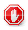 Red metal stop sign vector image vector image