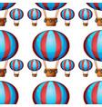 seamless pattern tile cartoon with hot air ballon