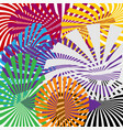 set color sun rays abstract background with sun vector image vector image