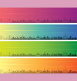 shantou multiple color gradient skyline banner vector image vector image