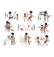 single black american mother and her daughter vector image