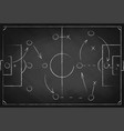 soccer tactic scheme on chalkboard football team vector image