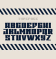 sport font alphabet with latin letters vector image vector image