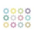 Sun burst star or snowflakes logo icon set vector image vector image