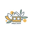 sweet home logo template design eco friendly vector image vector image