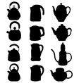 teapots vector image vector image