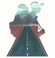 Travel with human silhouette vector image vector image