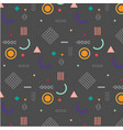 trendy geometric elements memphis pattern vector image vector image