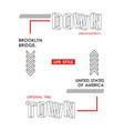 typography downtown brooklyn vector image vector image