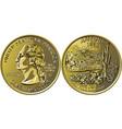 usa money washington quarter 25 cent coin arizona vector image vector image