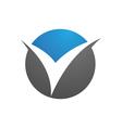 V Letter Logo Business professional logo template vector image