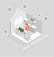work at home isometric vector image vector image
