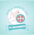 world diabetes day november vector image vector image