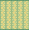 bright seamless floral pattern stripes vector image