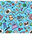 Doodle pattern of diet vector image