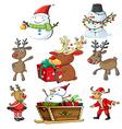 a set christmas designs vector image vector image