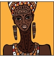 African woman Portrait vector image vector image