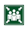 arrows point meeting signal vector image