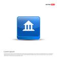 bank icon - 3d blue button vector image