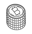 bit coin icon doodle hand drawn or outline icon vector image
