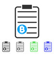 bitcoin price list flat icon vector image vector image
