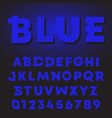 blue letters and numbers gradient shadow design vector image vector image