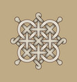 celtic knot - engraved - single chain - diagonal vector image vector image
