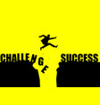 challenge to success vector image